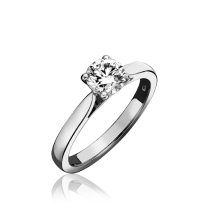 Platinum & Diamond Solitaire Ring