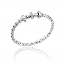 Chimento - Stretch 18ct White Gold & Diamond Bracelet