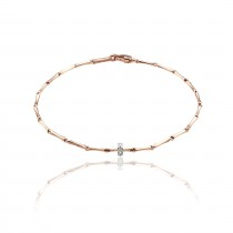 Chimento - Bamboo 18ct Rose Gold & Diamond Bracelet