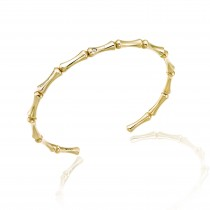 Chimento - Bamboo 18ct Yellow Gold and Diamond Bangle