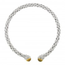 Chimento - Sterling Silver & Citrine 'Stretch' Collar Necklace
