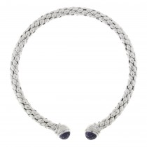 CHIMENTO - STERLING SILVER & AMETHYST 'STRETCH' COLLAR NECKLACE