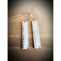 Yulan - Reflections Sterling Silver Plannish Drop Earrings