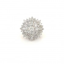 LADIES PRE OWNED 18CT YELLOW GOLD & DIAMOND CLUSTER RING
