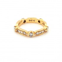 LADIES PRE OWNED 18CT YELLOW GOLD & DIAMOND FULL ETERNITY RING