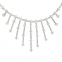LADIES PRE OWNED 18CT WHITE GOLD & DIAMOND FANCY NECKLET