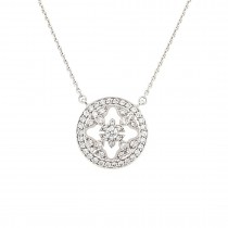 PRE OWNED 18CT WHITE GOLD & DIAMOND MAPPIN & WEBB 'EMPRESS' NECKLACE