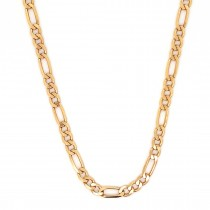 """18CT YELLOW GOLD PRE OWNED FIGARO CHAIN 20"""""""
