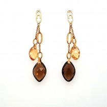 Chimento - 18ct Yellow Gold Marquise Quartz Drop Earrings