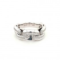 CHIMENTO 18CT WHITE GOLD & DIAMOND 'INFINITY' LINK RING