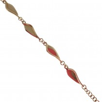 9ct yellow gold 'Arella' bracelet, by Ortak.