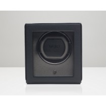 WOLF WATCH WINDER 'CUB' WITH COVER, BLACK - 461103