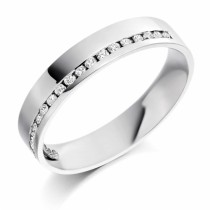 Ladies Diamond Set Wedding Ring (0.22ct)