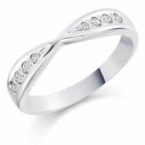 Ladies Diamond Set Wedding Ring (0.14ct)