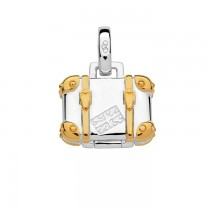 Links of London - Sterling Silver & 18kt Yellow Gold Vermeil Suitcase Charm. 5030.2540