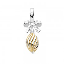 Links of London - Sterling Silver & 18kt Yellow Gold Vermeil Drop Bauble Charm 5030.2546