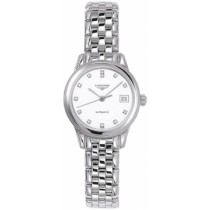 Sale Longines White Dial Flagship Automatic Womens Watch - L4.274.4.27.6