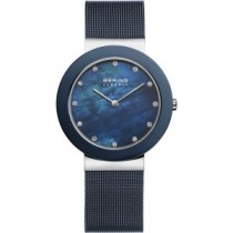 BERING CERAMIC COLLECTION WOMEN'S WATCH MILANESE BLUE