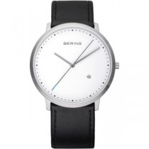 BERING UNISEX WATCH CALFSKIN BLACK