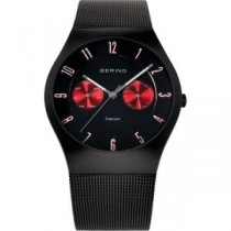 BERING TITANIUM COLLECTION MEN'S WATCH MILANESE BLACK