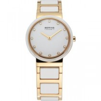 BERING CERAMIC COLLECTION WOMEN'S WATCH STAINLESS STEEL GOLD
