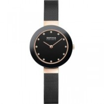 BERING CERAMIC COLLECTION WOMEN'S WATCH MILANESE BLACK