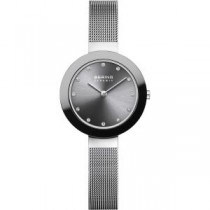 BERING CERAMIC COLLECTION WOMEN'S WATCH MILANESE GREY