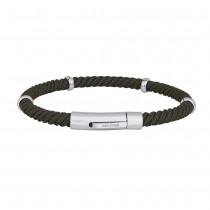 SON OF NOA bracelet green cord w. steel parts 21cm 5mm