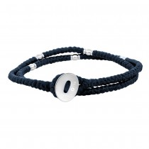 SON OF NOA bracelet blue cord with steel 37cm