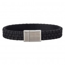 SON OF NOA bracelet black calf leather 21cm 12mm