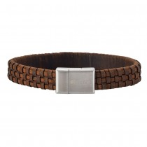 SON OF NOA bracelet brown calf leather 21cm 12mm