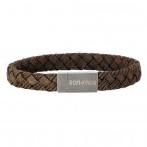 SON OF NOA bracelet dark brown calf leather 21cm 10mm