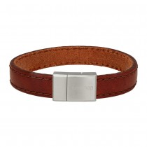 SON OF NAO bracelet brown calf leather 19cm 12mm