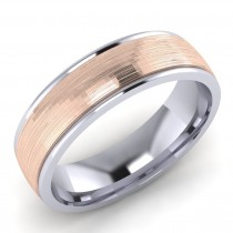 Gent's Two Colour Wedding Ring