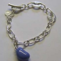 Blueberry jelly bean charm bracelet, by Molly Brown.