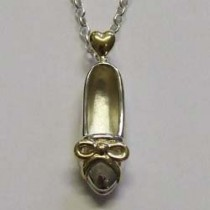 Molly Brown sterling silver Cinderella necklace.