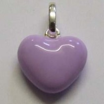 Molly Brown sterling silver and enamel, lavender heart charm.