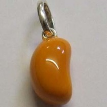 Molly Brown sterling silver and enamel, orange jelly bean charm.