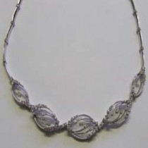 18ct White gold Diamond Aurora Necklet 30-02-012