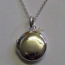 Molly Brown large silver Lulu locket.