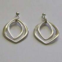 Silver Anice drop earrings, by Ortak.