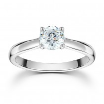 MASTERCUT 'STARLIGHT' PLATINUM & DIAMOND SINGLE STONE RING