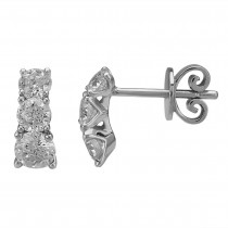 MASTERCUT 'SIMPLICITY' 18CT WHITE GOLD & DIAMOND STUD EARRINGS