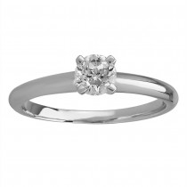 MASTERCUT 'SIMPLICITY' PLATINUM & DIAMOND SINGLE STONE RING