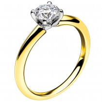 MASTERCUT 'SIMPLICITY' 18CT YELLOW GOLD & DIAMOND SINGLE STONE RING