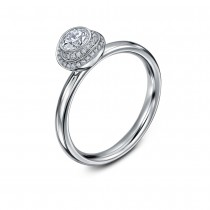'Clair de Lune' Platinum & Diamond Ring by Andrew Geoghegan