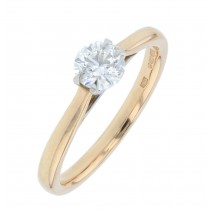 18ct Yellow Gold & Diamond Single Stone Ring