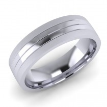Gent's Machine Patterned Wedding Ring