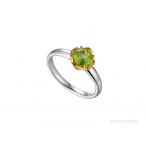 Sterling Silver & Peridot 'Gelato' Dress Ring