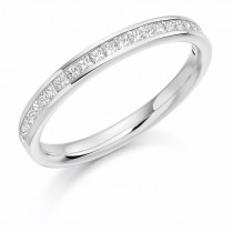 18ct White Gold & Diamond Half Eternity/Bridal Band. HET1157